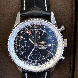 Breitling Navitimer World Gmt 46 Automatic Watch